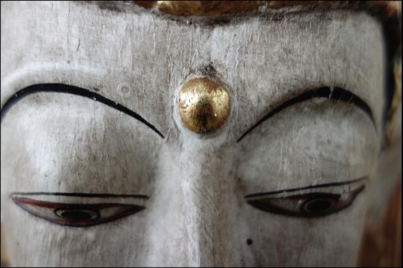 Masque de boddhisatva - temple zen  du Caroux
