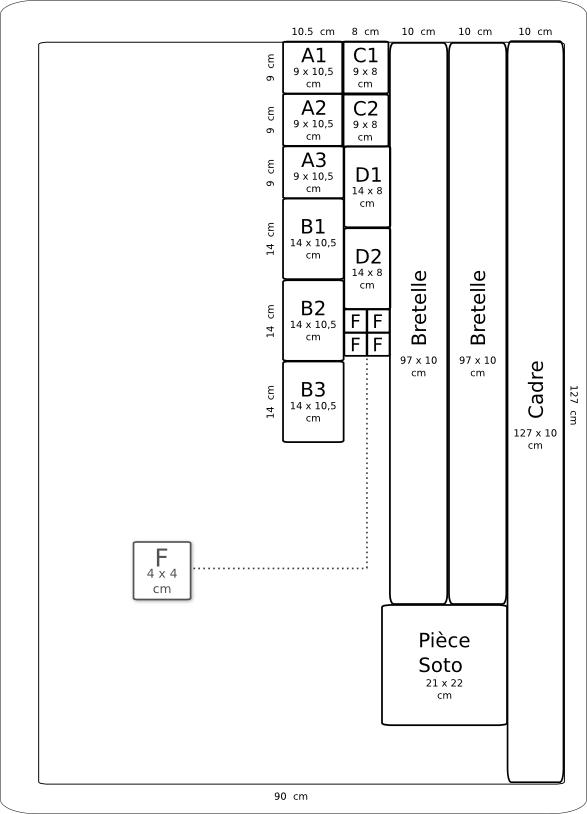 Plan de coupe  du rakusu